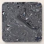 Arte blanco y negro abstracto de Digitaces Posavasos De Bebida
