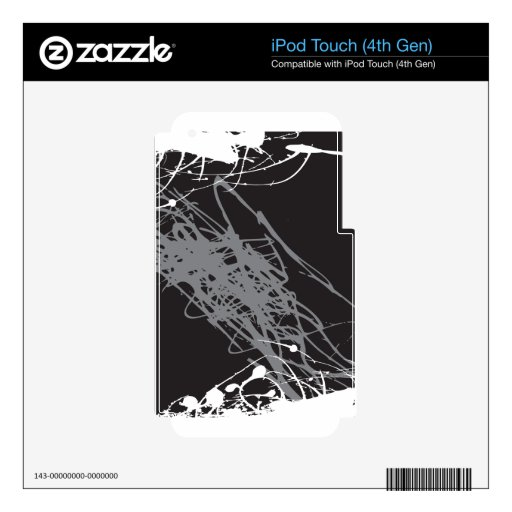 arte blanco y negro abstracto iPod touch 4G calcomanía