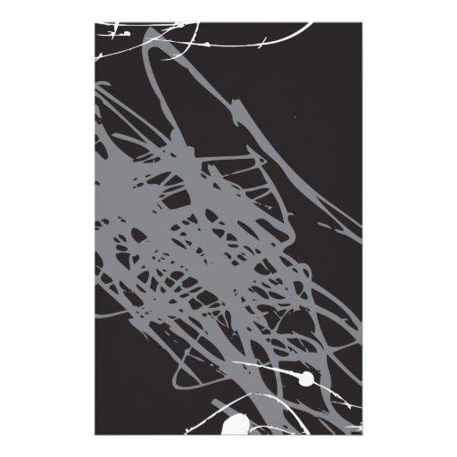 arte blanco y negro abstracto papeleria personalizada