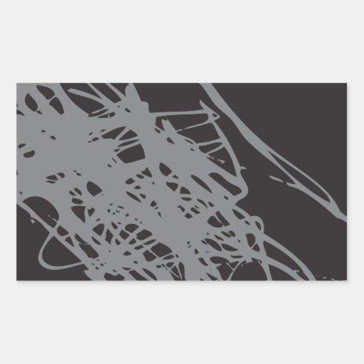 arte blanco y negro abstracto pegatina rectangular