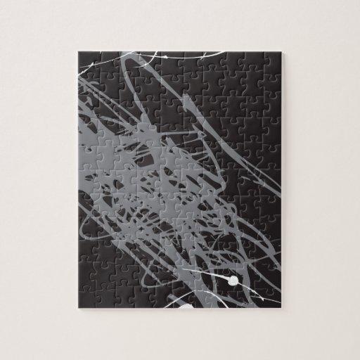 arte blanco y negro abstracto rompecabezas con fotos