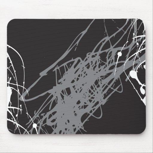 arte blanco y negro abstracto tapete de raton