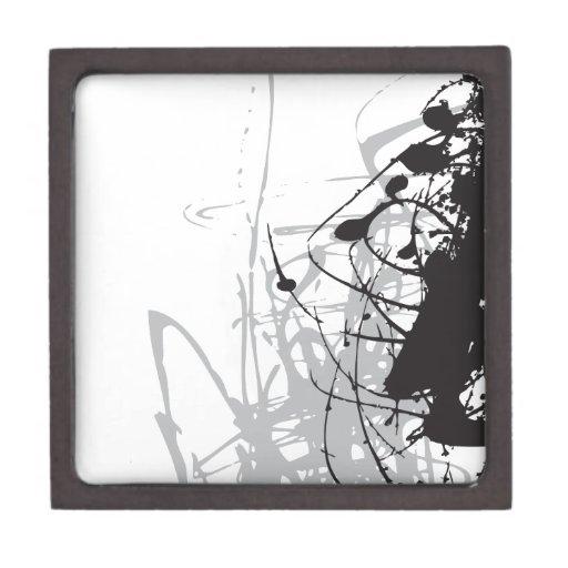 arte blanco y negro abstracto vo1 cajas de joyas de calidad