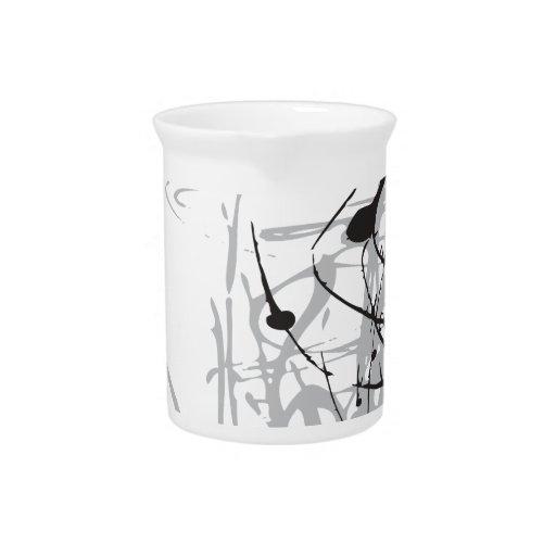 arte blanco y negro abstracto vo1 jarra