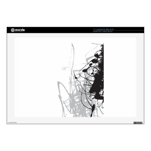 arte blanco y negro abstracto vo1 portátil skins
