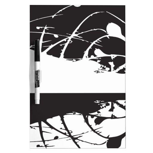 arte blanco y negro abstracto vo4 pizarras
