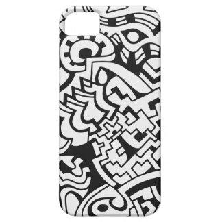 Arte blanco y negro de la calle de la pintada funda para iPhone 5 barely there