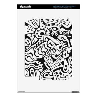 Arte blanco y negro de la calle de la pintada pegatinas skins para iPad 3