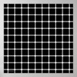 Arte blanco y negro de la ilusión óptica poster