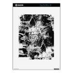 arte blanco y negro del collage de los cráneos iPad 2 skins