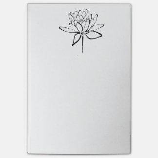 Arte blanco y negro del dibujo de la tinta de la f nota post-it
