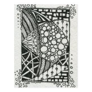 Arte blanco y negro del Doodle ACEO Tarjetas Postales