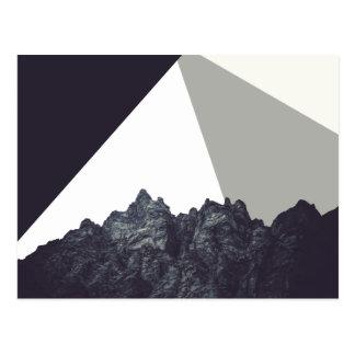 Arte blanco y negro moderno de la roca de postales
