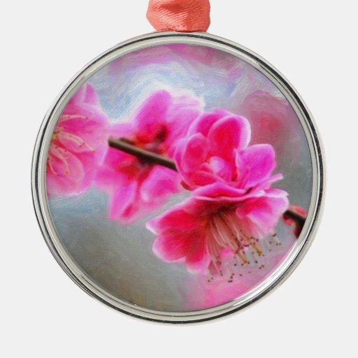 arte - blossoms-pink.jpg adorno navideño redondo de metal
