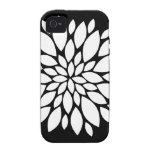 Arte bonito de los pétalos de la flor blanca en ne iPhone 4 carcasas