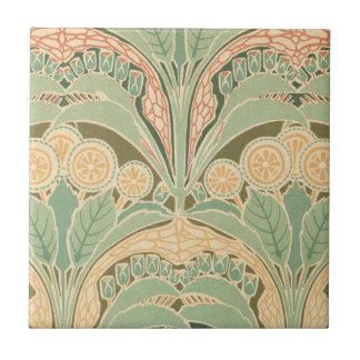 arte bontanical adornado del nouveau del arte del  azulejo cuadrado pequeño