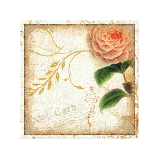 Arte botánico de la pared de la postal del remolin impresion en lona