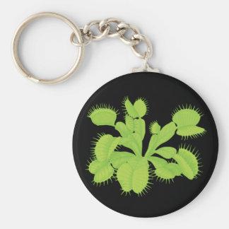 Arte botánico del atrapamoscas de Venus Llavero Redondo Tipo Pin