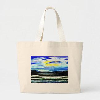 Arte brillante de los regalos del paisaje marino d bolsa de mano