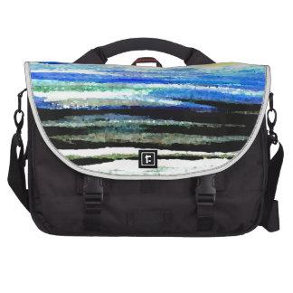 Arte brillante de los regalos del paisaje marino d bolsas para portátil
