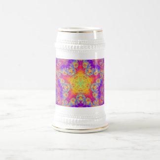 Arte brillante del caleidoscopio del remolino del jarra de cerveza
