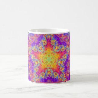 Arte brillante del caleidoscopio del remolino del taza