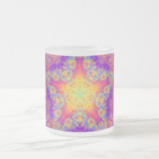 Arte brillante del caleidoscopio del remolino del taza de cristal