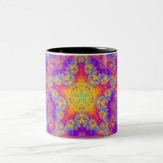 Arte brillante del caleidoscopio del remolino del taza de dos tonos