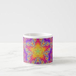 Arte brillante del caleidoscopio del remolino del taza espresso