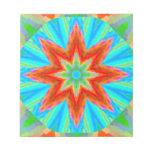 Arte brillante del fractal de Digitaces de la flor Libretas Para Notas