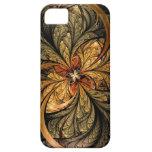 Arte brillante del fractal de las hojas iPhone 5 Case-Mate protector