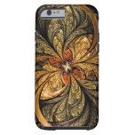 Arte brillante del fractal de las hojas funda de iPhone 6 tough