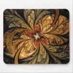 Arte brillante del fractal de las hojas mousepads
