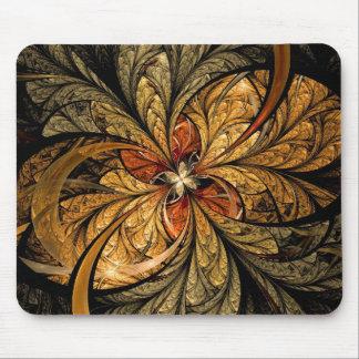 Arte brillante del fractal de las hojas tapetes de ratón