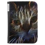 Arte brillante del fractal del fuego del gato bril