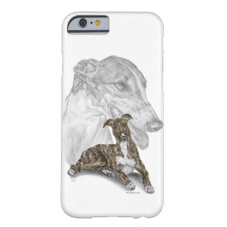 Arte Brindle del perro del galgo Funda Para iPhone 6 Barely There