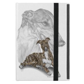 Arte Brindle del perro del galgo iPad Mini Cobertura