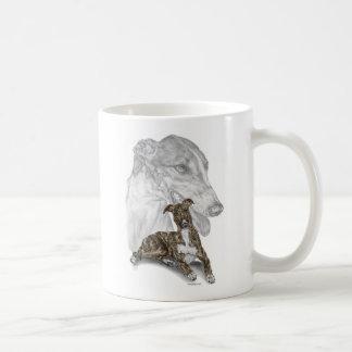 Arte Brindle del perro del galgo Tazas De Café