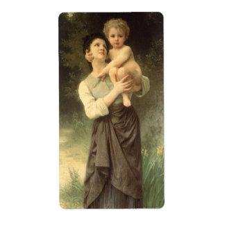 Arte, Brother y hermana del Victorian por Etiquetas De Envío