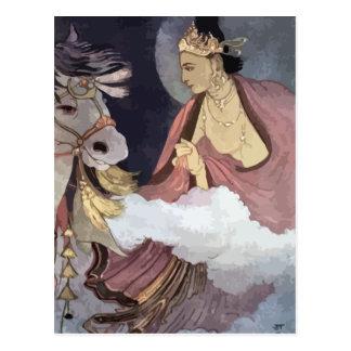 Arte budista tarjeta postal