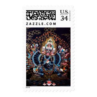 Arte budista tibetano (Chemckok Heruka) Estampillas