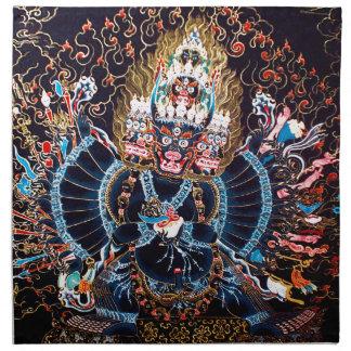 Arte budista tibetano (Chemckok Heruka) Servilletas