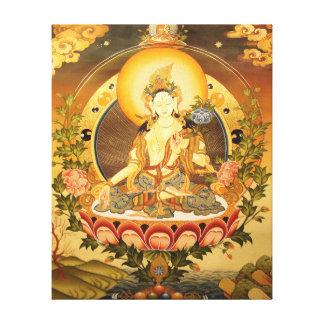 Arte budista tibetano lienzo envuelto para galerías