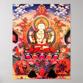Arte budista tibetano póster