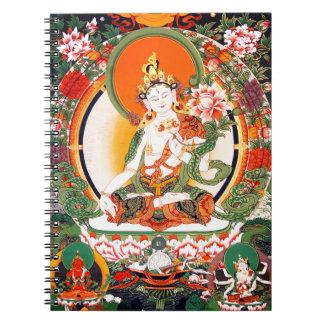 Arte budista tibetano precioso note book