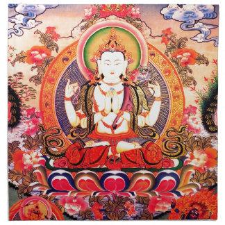 Arte budista tibetano servilleta