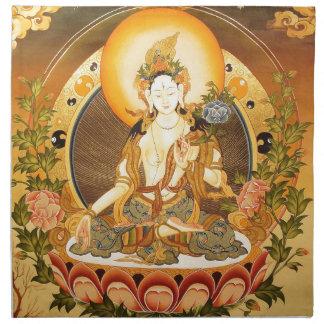 Arte budista tibetano servilleta imprimida