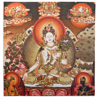 Arte budista tibetano servilletas de papel