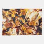 Arte caido de la acuarela del invierno del otoño d toalla de cocina