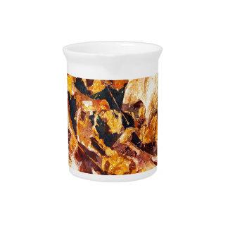 Arte caido de la acuarela del invierno del otoño jarras de beber